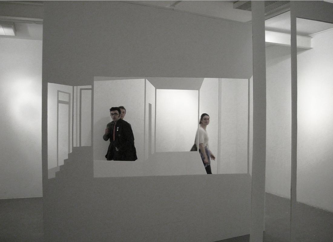 Exposition de Marie Morel, artiste accueillie en résidence à Pollen, Monflanquin, 2008