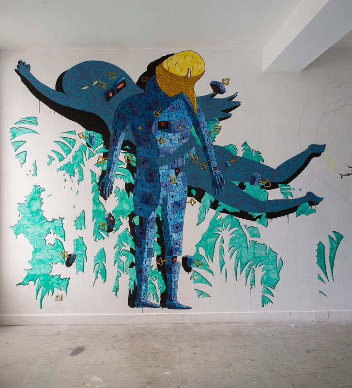Jimmy Richer, artiste accueilli en résidence à Pollen, Monflanquin, automne 2017