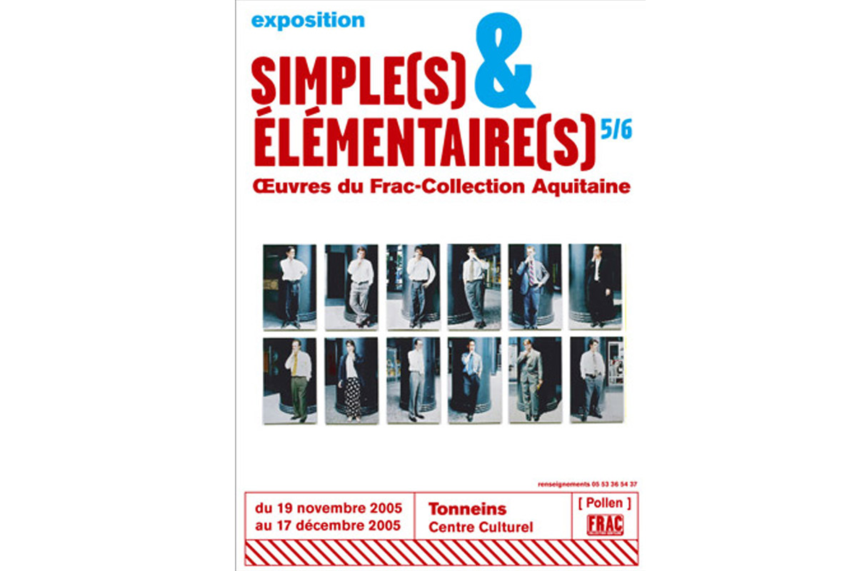 simple et elementaire, exposition d'oeuvres du FRAC