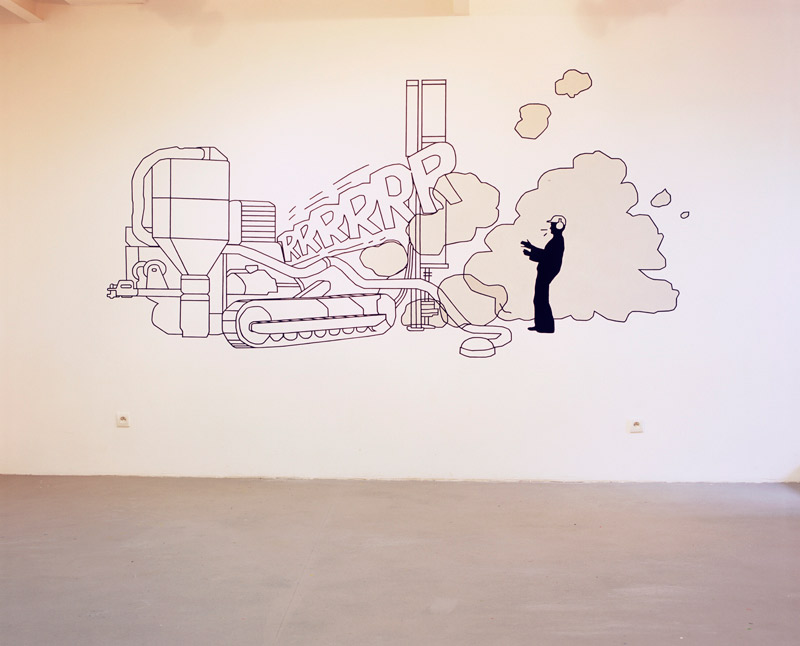 Sylvain Bourget, exposition à Pollen, 2006