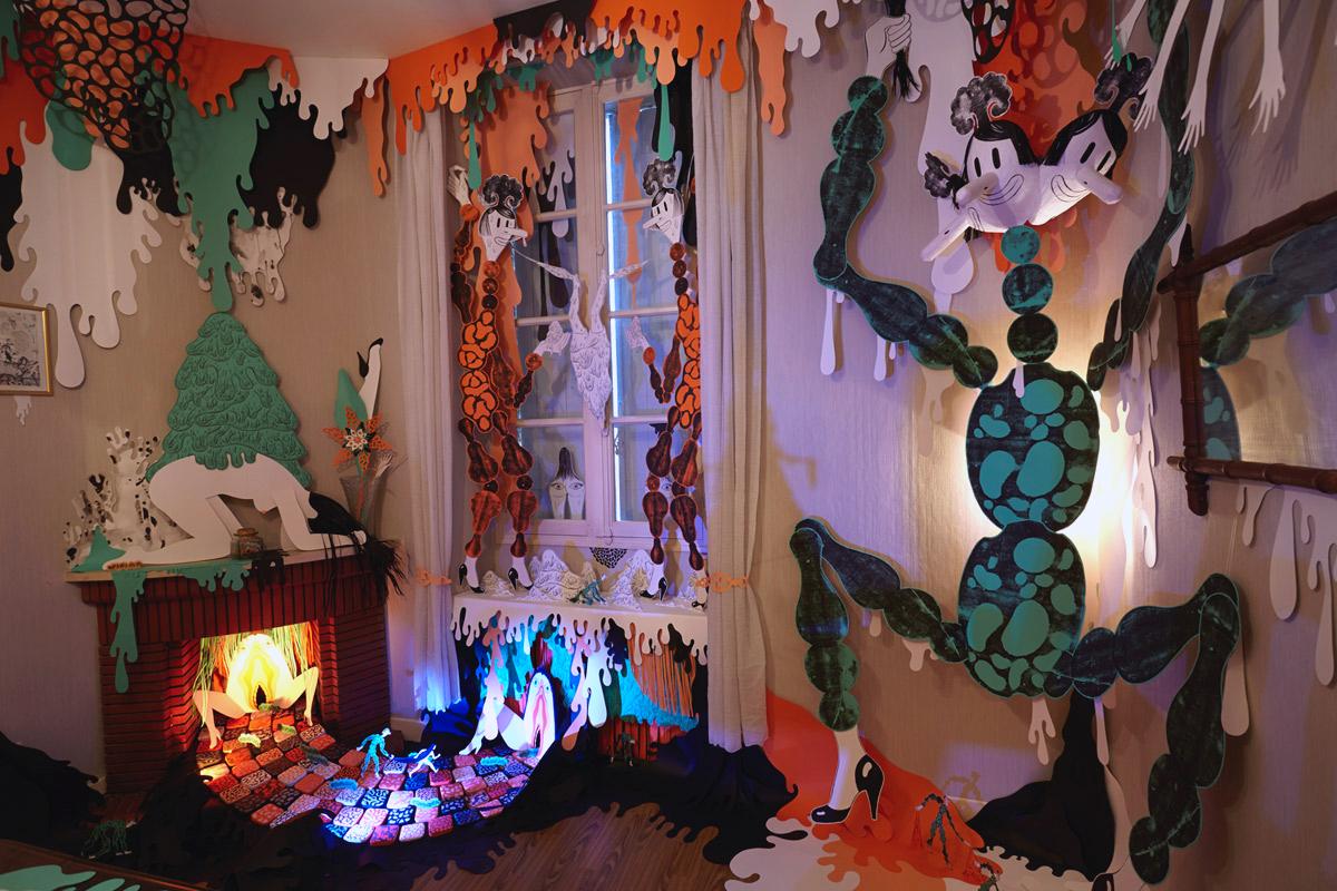 """Exposition """"Souffle d'Echo""""de Christelle Enault, accueillie en résidence en 2013"""