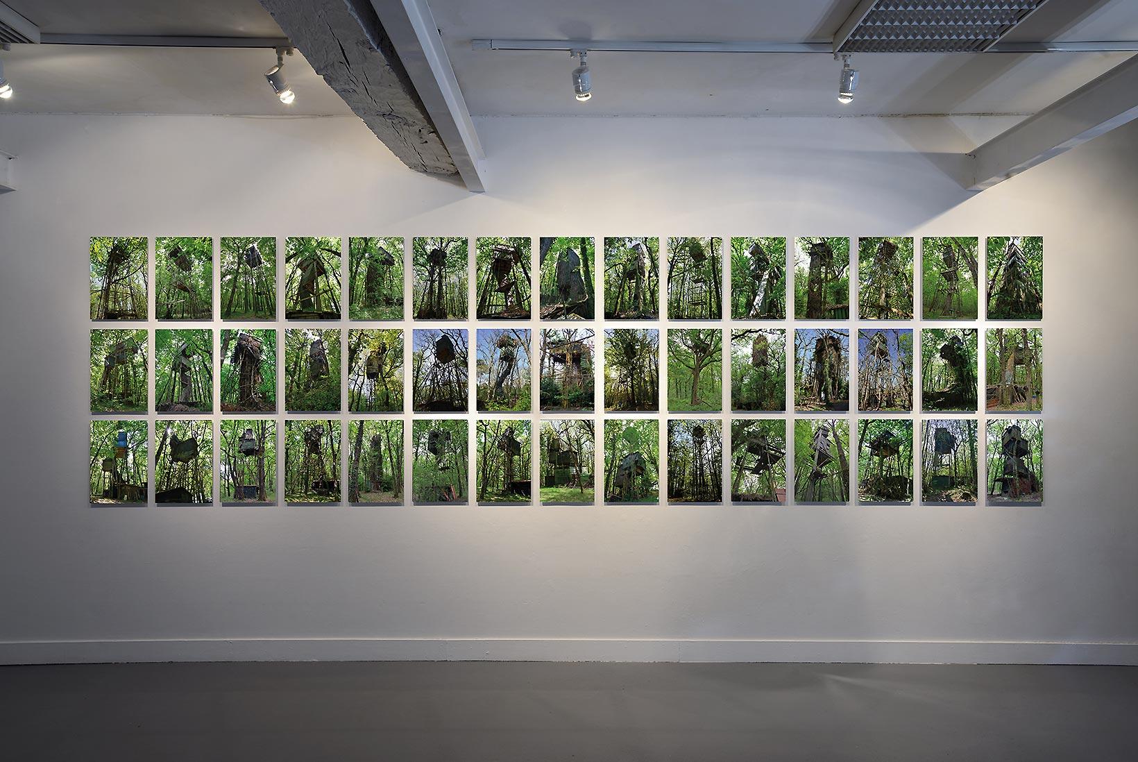 Refuges Perchés de Roland Fuhrmann exposition à Pollen, 2018
